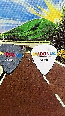 MADONNA Monte Pittman 2008 Sticky & Sweet Tour 2-guitar pick TWOSOME, usado comprar usado  Enviando para Brazil