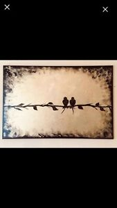 Christmas Gift Handcrafted Acrylic Canvas Painting by Sami