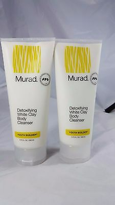 Murad Youth Builder Detoxifying White Clay Body Cleanser, 6.75 Ounce (2pack)