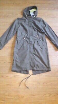 Ilse Jacobsen Hornbaek coat.RRP £165.Size 36 or 10 UK.Khaki.Water repellent