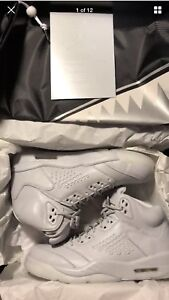 "DS Air Jordan 5 Retro Prem ""Platinum"" Size 10.5"