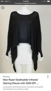 Lululemon Enlightened Pullover sweater Black size 10