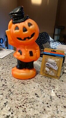 "VINTAGE 1969 EMPIRE 14"" JACK O' LANTERN IN TOP HAT HALLOWEEN BLOW MOLD EXCELLENT"