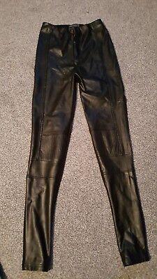 ladies lipsy faux leather leggings size 6