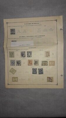 Antique Curacao (Antilles) Stamp Lot of 13 Stamps From 1800's - Early 1900's