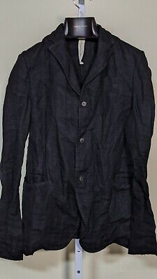 A DICIANNOVEVENTITRE Black Dyed Waxed Linen Stitch Seam Italy 50 $2500