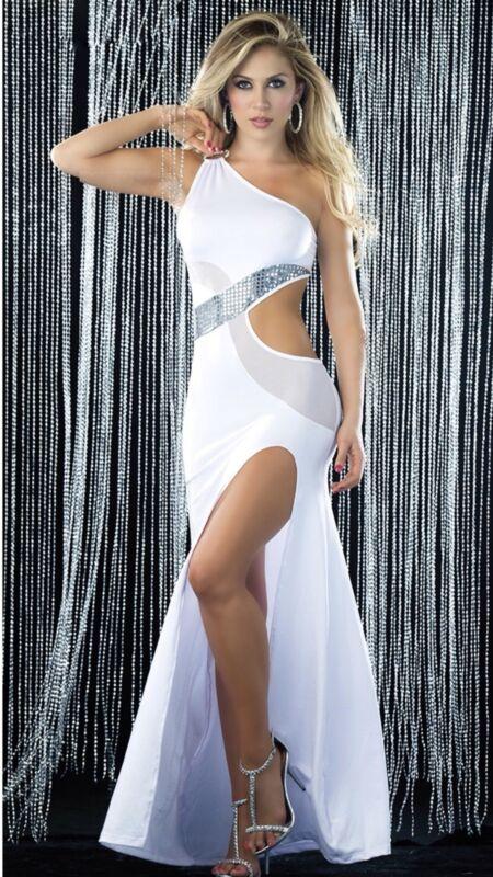 Sexy Clubwear Long Gown Dress Exotic Dancer Stripper