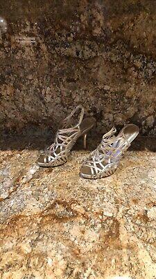 BCBG Generation Sexy Women's Gold High Heel Sandals Size 8.5 Gold High Heel Sandals