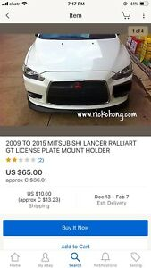 Mitsubishi lancer 2008+up side license plate for 30 bucks PM me