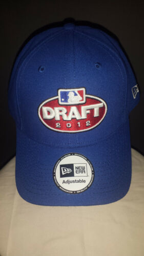 New Era Blue 2012 MLB Draft One Size Fits Most Adjustable Hat Baseball Cap NWOT