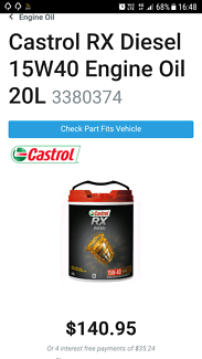 Caltex RX Diesel Oil 15W-40 and other oils