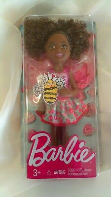 """Barbie 2016 Chelsea Doll """"Love"""" Approx 5.5"""" Tall - African American doll"""