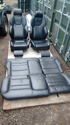AUDI S3 8L RECARO LEATHER SEATS ELECTRIC BLACK FRONT AND REAR (GOLF MK4) 98-03