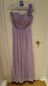 Long lavender bridesmaid dress