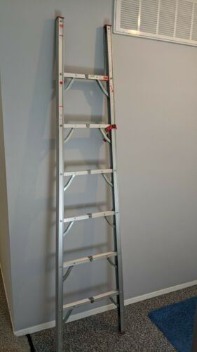 GP Logistics 7 Ft. Compact Light-Weight Aluminum Folding Straight Ladder