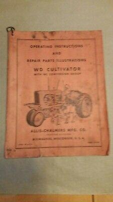 Allis Chalmers Wd Cultivator Operators Manual