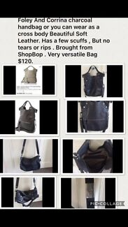 Wanted:  Corrina and Foley Black Leather Bag