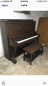 FREE PIANO GOOD CONDITION NO CHIPPED IVORY    NO STAIRS