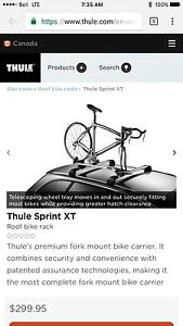 Thule Sprint XT bicycle roof rack
