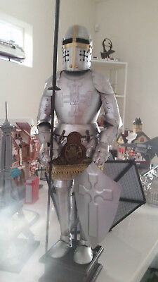 Medieval Knight Black Full Suit of Armor Home Decoration