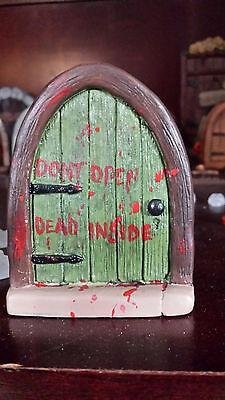 Halloween Fairy door, Zombie fairy door, don't open dead inside, walking - Halloween Open Door