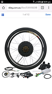 48V 1000W Electric Bicycle Motor Conversion Kit Exercise Bike Cyc Kingsgrove Canterbury Area Preview