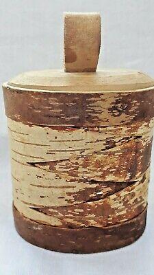 Vintage oval Swedish 'Näver' birch bark box from 1988