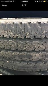 Complete set of Firestone A/T tires for sale