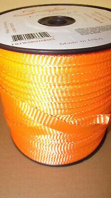 58 X 500 1800 Tensile Polyester Pull Tape Mule Tape Webbing Orange Usa