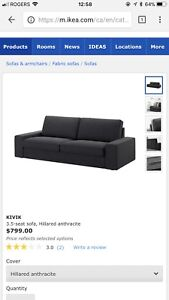 Kivik sofa with foot stool storage  Good condition , very clean