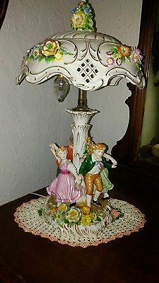 Von Schierholz Dresden Porcelain Lamp