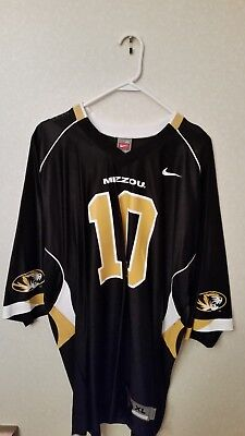 Missouri Tigers Black Nike #10 Replica Football Jersey - XL 10 Black Replica Football Jersey