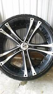 4 x 20 inch xhp rims with tyres - Suit falcon Ormond Glen Eira Area Preview