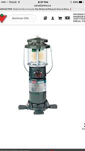 Coleman 5155 Series 2-Mantle QuickPack Propane Lantern with Case