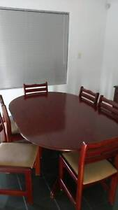 Dining Suite - Solid Jarrah with 6 chairs