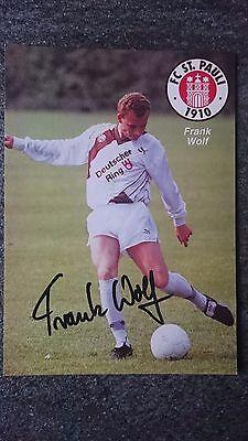 AK m.Orig.AG Frank Wolf FC St. Pauli Saison 90/91 segunda mano  Embacar hacia Mexico