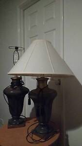 Glass  Bedside tables and 1 lamp without shade Thornlie Gosnells Area Preview