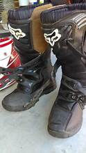 FOX MOTORBIKE BOOTS WORN TWICE USA 8Y EURO 41.5 AS NEW Baxter Mornington Peninsula Preview