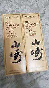 2 Bottles of Suntory Yamazaki 12 Year Old Japan Whisky 700mL
