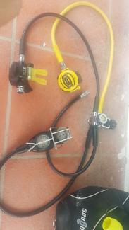 Scuba gear, apeks regs and aqualung bcd