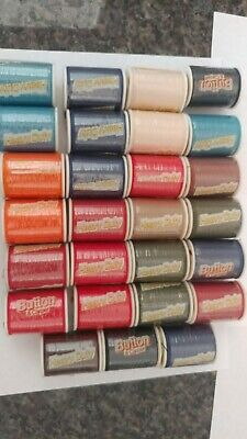Button And Carpet Thread Mix Lot 28 spools for heavy weight fabrics