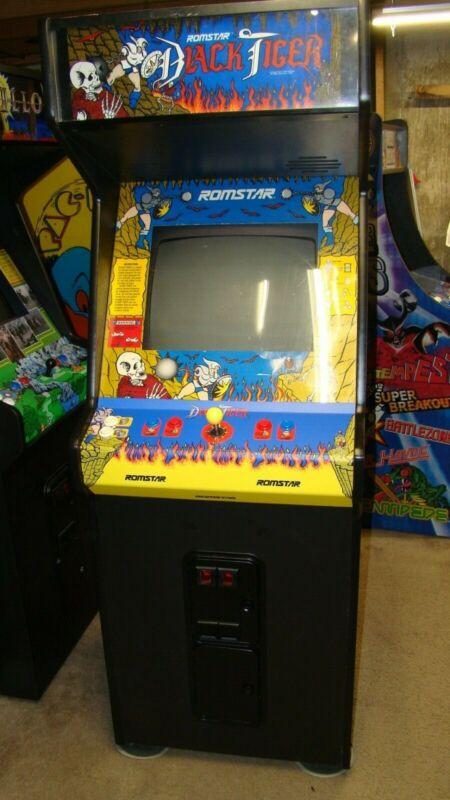 restored capcom BLACK TIGER arcade machine