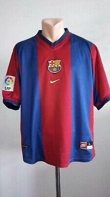 5675c52f6 Football shirt soccer FC Barcelona Home 1998 1999 Barca Nike jersey  camiseta L