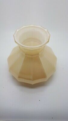 Vintage Cream& White Glass Lamp Shade Suitable for Oil Lamp Fitting