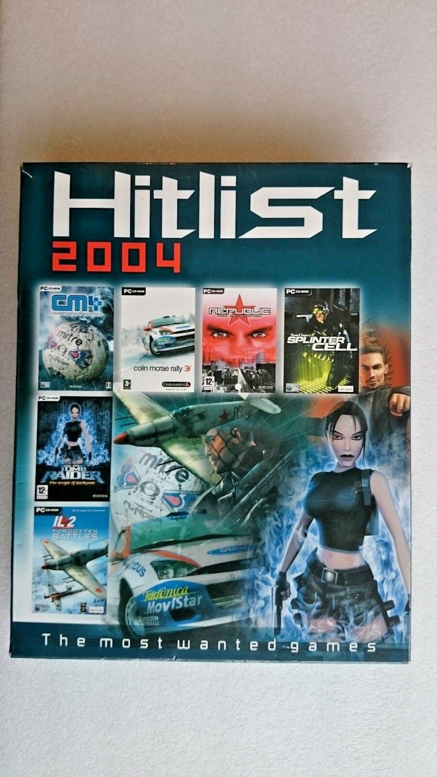 Hit list Collection 2004 Tomb Raider, Splinter Cell Plus More PC