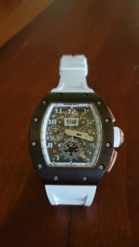 Richard mille rm11 titanium flyback w/ warranty paper - watch picture 1