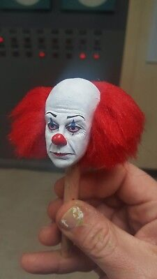 Pennywise the clown from it classic version 2 head for 12 inch body new rooted