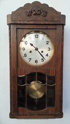 ANTIQUE HAC (JUNGHANS) GERMAN PENDULUM WALL CLOCK REGULATOR WITH GONG
