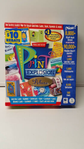 Nova Development Print Explosion Deluxe for Mac, CD & Manual (limited use)