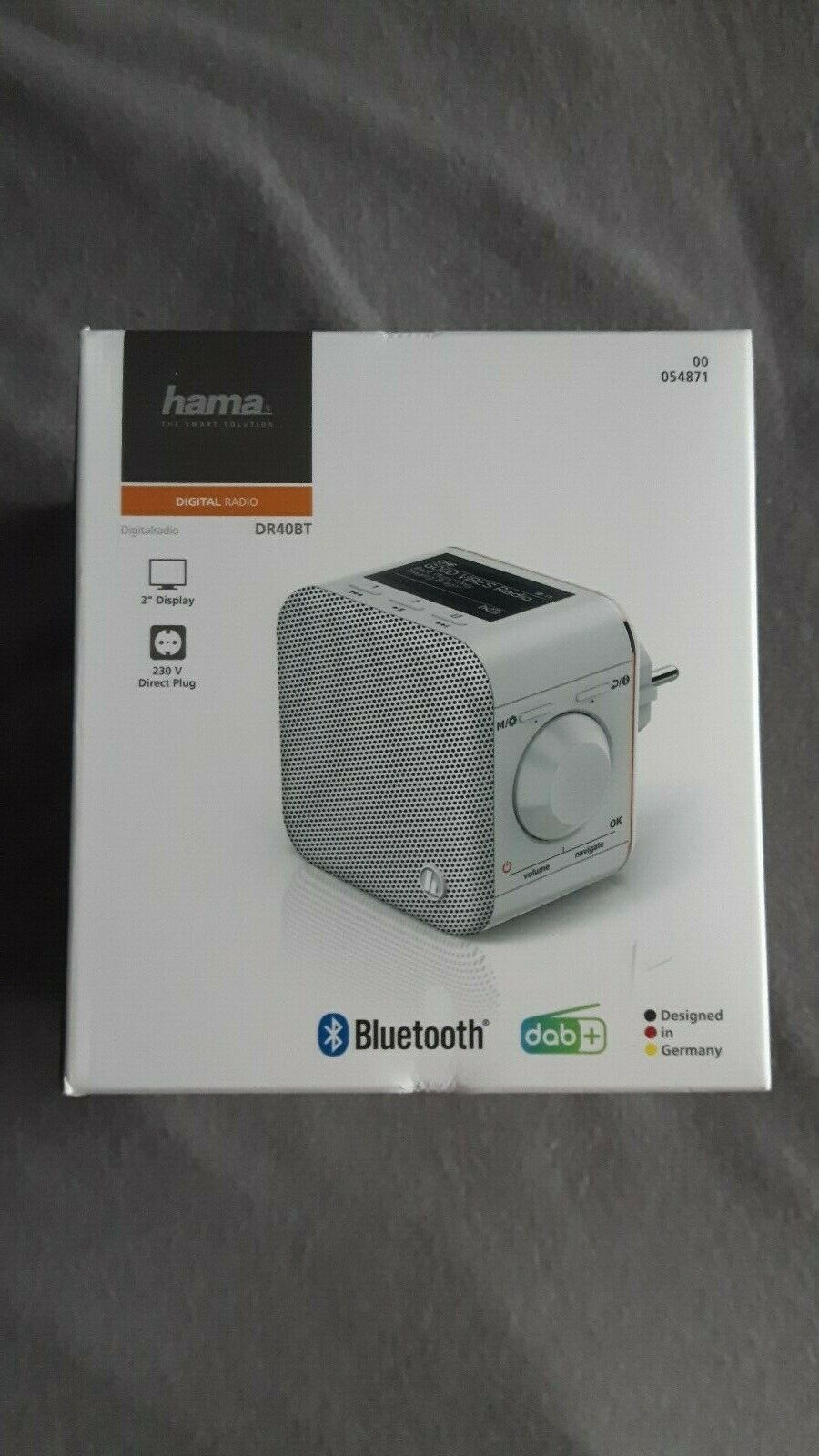Hama Digitalradio DR40BT -PlugIn Steckdosenradio DAB, DAB+, FM, Bluetooth